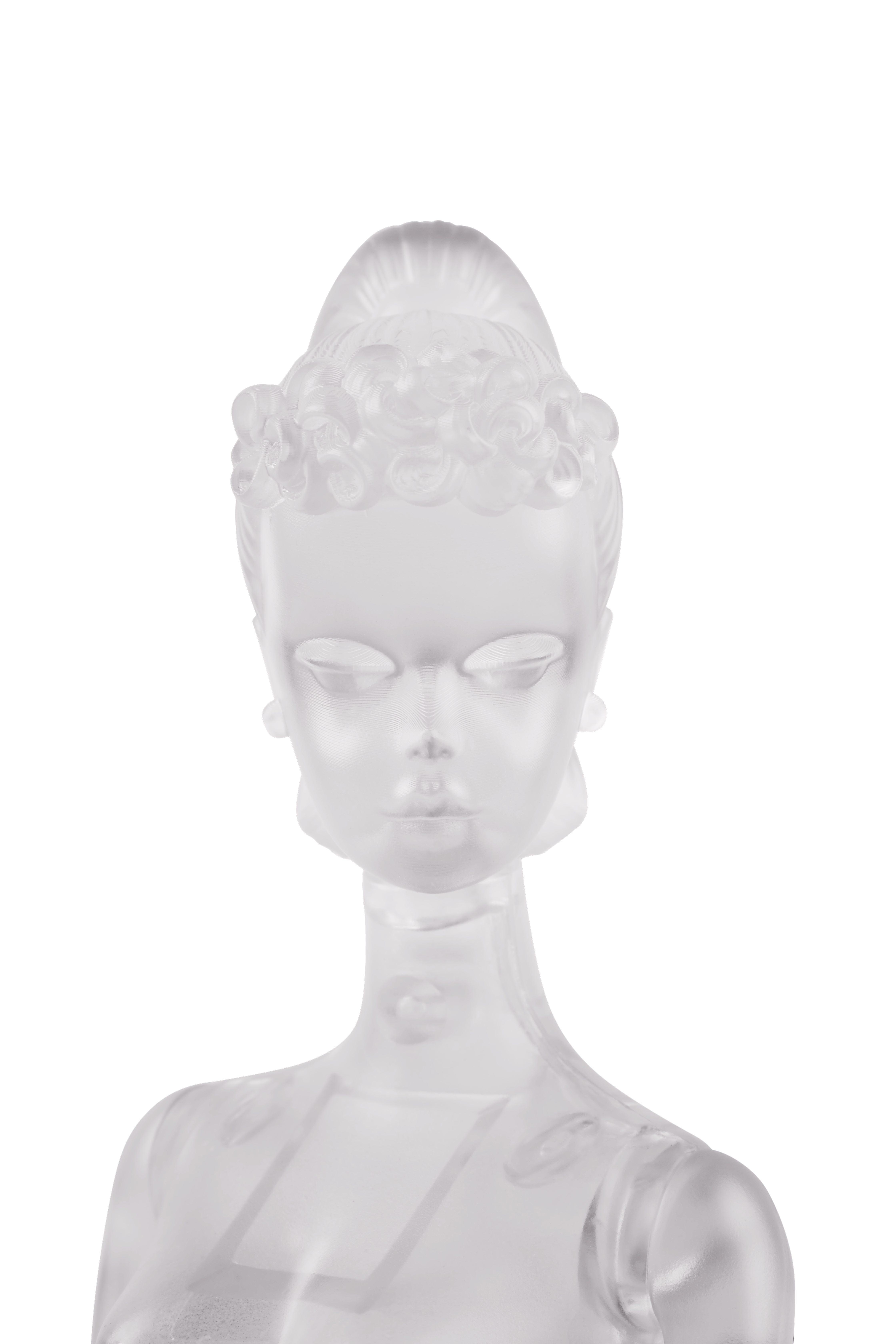 Barbie model face close up