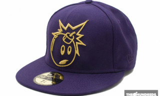 "The Hundreds ""Adam Bomb Outline"" New Era Cap – Purple Colorway"