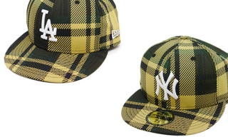 Bape NY & LA Plaid New Era Caps