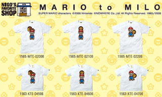 "Bape ""Mario And Milo"" T-Shirts"