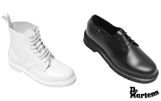 "Dr. Martens ""Made in Monochrome"" Collection 