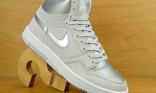 Nike Court Force High Grey/Metallic Silver