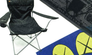 "Original Fake x G1950 – Kaws ""X"" Pattern Chair And Bath Towels"