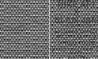 "Slam Jam x Nike Air Force 1 ""Optical Force"" Announced"
