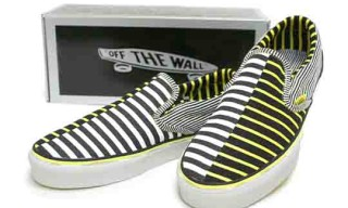 Vans Vault Slip-On LX Black/True Yellow Stripe
