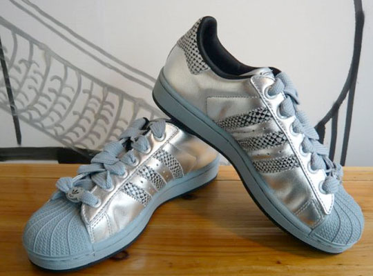 Adidas Superstar Silver And Gold