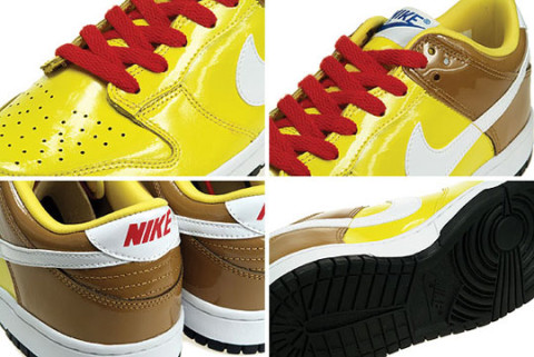 """new concept ce8e3 60760 More detailed images of the Nike Dunk Low """"Spongebob"""" after the jump."""