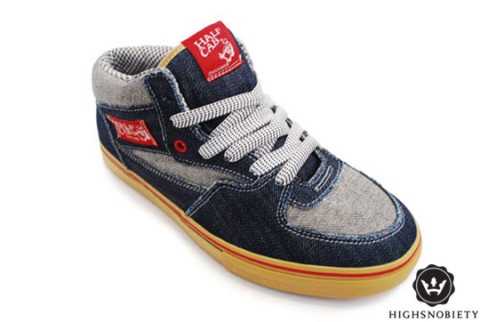 vans half cab denim