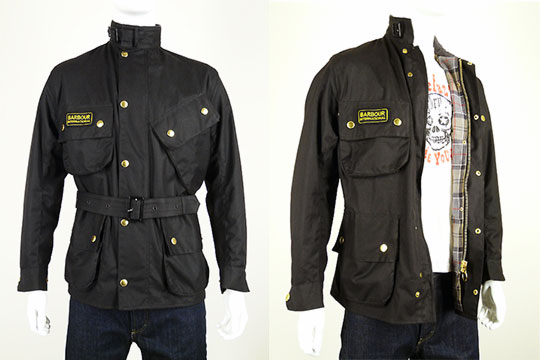 barbour wax cotton international motorcycle jacket