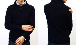 NSF Edward Shawl Collar Sweater