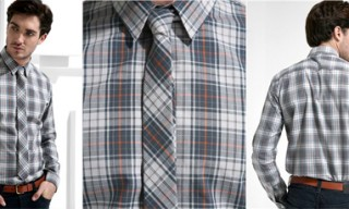 Junk De Luxe Plaid Shirt & Tie