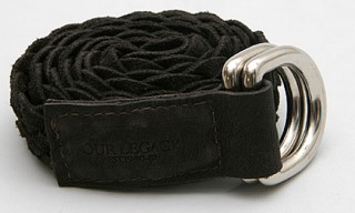 Our Legacy Suede Woven Belt