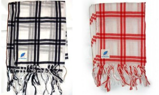 Pure Blue Japan Plaid Scarves