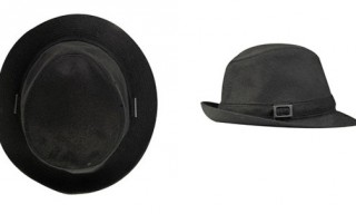 Superfine Black Fedora Hat