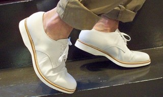 Alden for Steven Alan White Leather Shoes