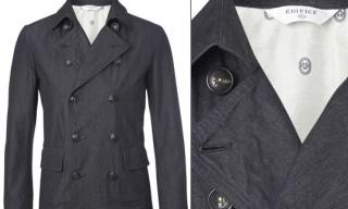 Edifice Double Breasted Denim Jacket
