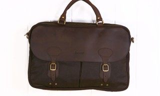 Barbour Waxed Cotton Briefcase