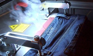 Denim Laser-Etching Machine at Diesel 5th Ave