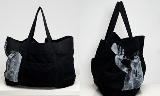 DRKSHDW Dusty Black Denim Tote