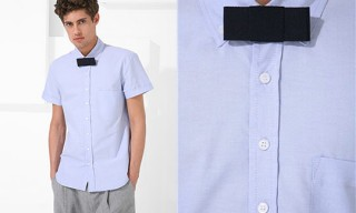 Mjolk Short Sleeved Dress Shirt With Bow Tie