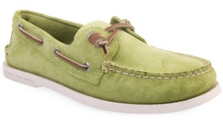 Sperry Lime Green Suede Deck Shoes