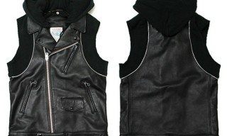 Undercoverism Leather Sleeveless Hoodie