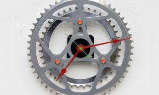 Recycled Bike Chainring Clock