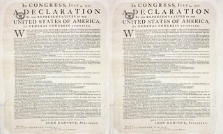 Rare Copy Of The Declaration Of Independence Found