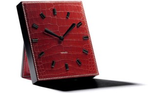 Hermes Alligator Leather Table Clock for Only Watch 2009
