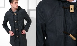 Acne Waxed Cotton Duffle Coat