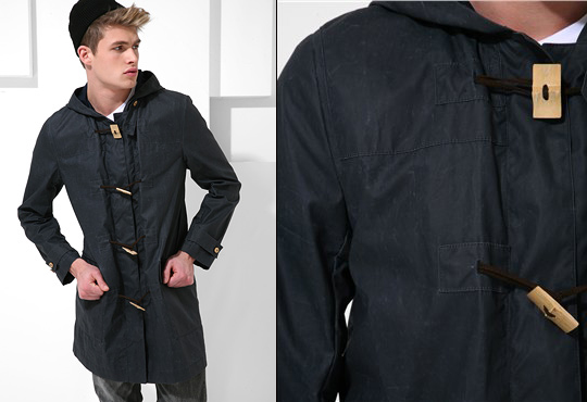 Acne Waxed Cotton Duffle Coat