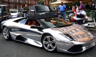 Chromed-Out Lamborghini Murcielago Roadster