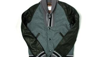Mihara Yasuhiro Shawl Collar Varsity Jacket