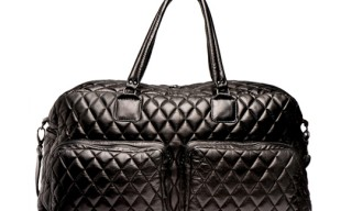 H By Harris Quilted Leather Weekender