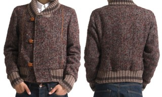 Kolor Tweed Shawl Neck Jacket