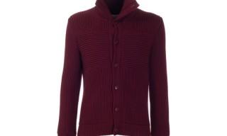 Maison Martin Margiela Burgundy Knitted Cardigan