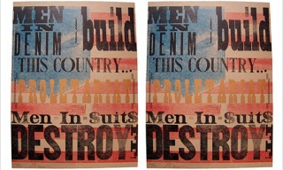 """Men in Denim Build this Country…"" Poster"