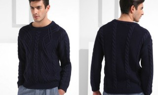 Velour Cable Knit Jumper