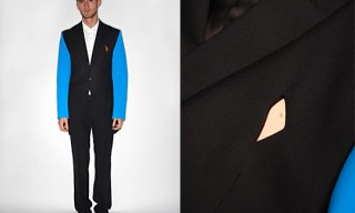 Raf Simons Suit With Neoprene Arms