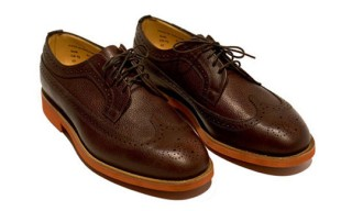 Mark McNairy for ACL & Co. Longwing Brogue and Suede Cap Toe Patton Boot
