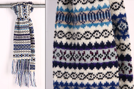 Simple Knitted Hat Pattern Free : Jamiesons Fair Isle Scarf Highsnobiety