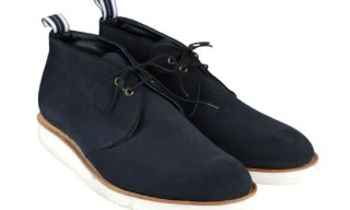 Oliver Spencer Navy Suede Chukka Boot