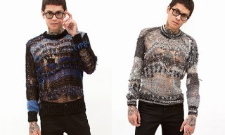 Rodarte Mohair Crewneck Sweaters