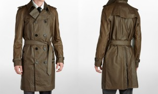 Burberry Waxed Canvas Trench Coat