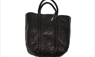 Rogue's Gallery Black Leather Tote Bag