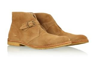 YMC Suede Monk Strap Desert Boots