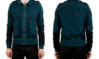 Robert Geller Summer Bomber Jacket in Dark Green