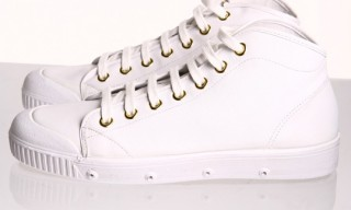 Spring Court B2 Mid Leather Trainers