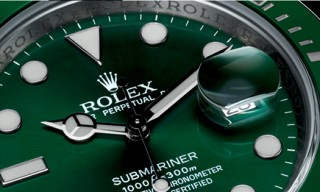 Rolex Oyster Perpetual Submariner Date Watch in Green