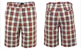 A.P.C. Checkered Shorts